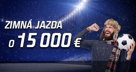 Zimná jazda o 15 000 EUR