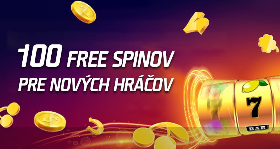 Získaj 100 free spinov