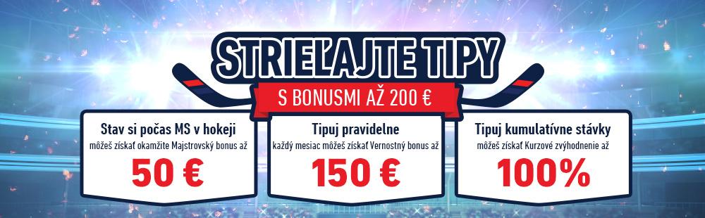 Športové bonusy na eTIPOS.sk
